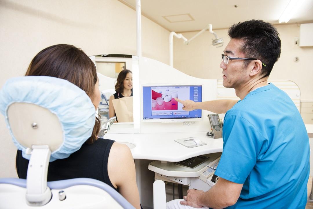 診療台でのPCによる説明システム